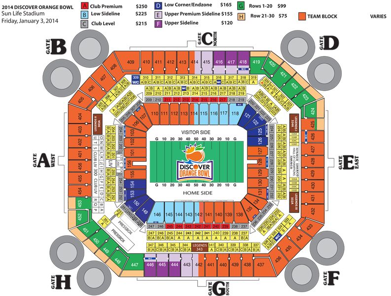Remember to use your Discover card when purchasing Orange Bowl tickets