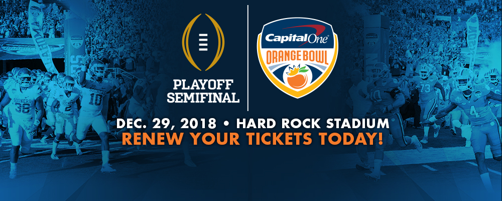 Renew Your Tickets for the Playoff Semifinal at the Capital One Orange Bowl