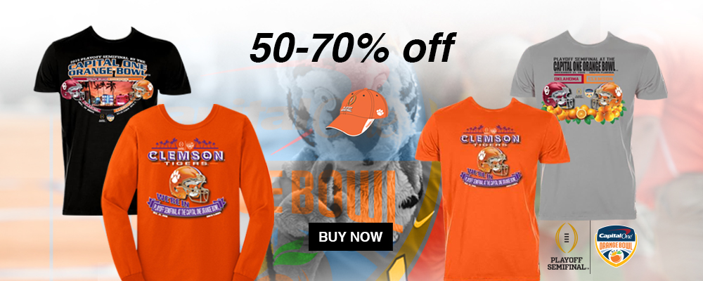 50-70&#37&#59; Off Capital One Orange Bowl Official Merchandise