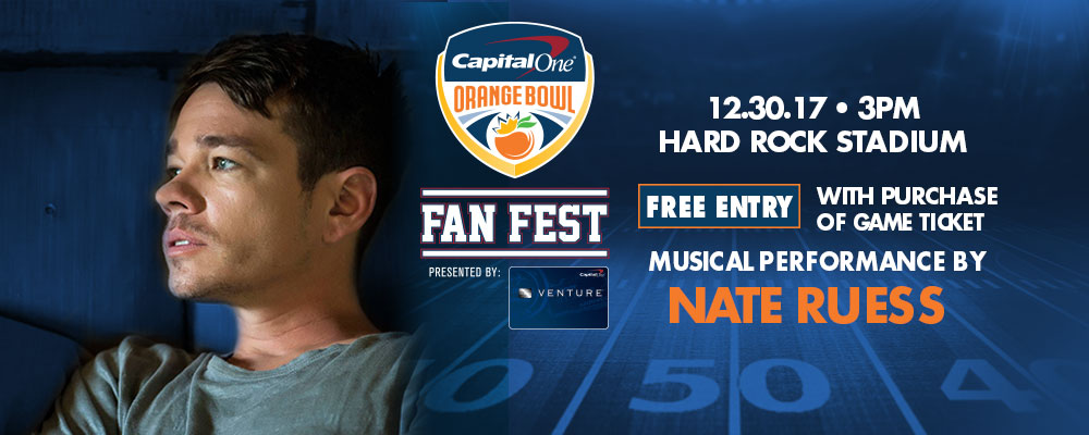 Nate Ruess to perform at the Capital One Orange Bowl Fan Fest pres. by the Capital One Venture Card&#33&#59;