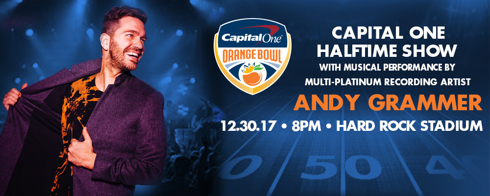 Multi-Platinum Selling Pop Artist Andy Grammer to Headline 2017 Capital One Orange Bowl Halftime Show&#33&#59;