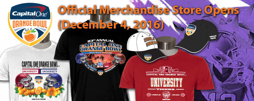Visit the Official Merchandise Store of the Capital One Orange Bowl