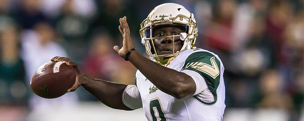 South Florida&#39&#59;s Quinton Flowers Nominated for the Capital One Orange Bowl-FWAA Courage Award
