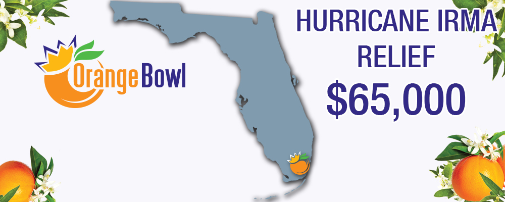 Orange Bowl Committee to Aid Hurricane Irma Victims
