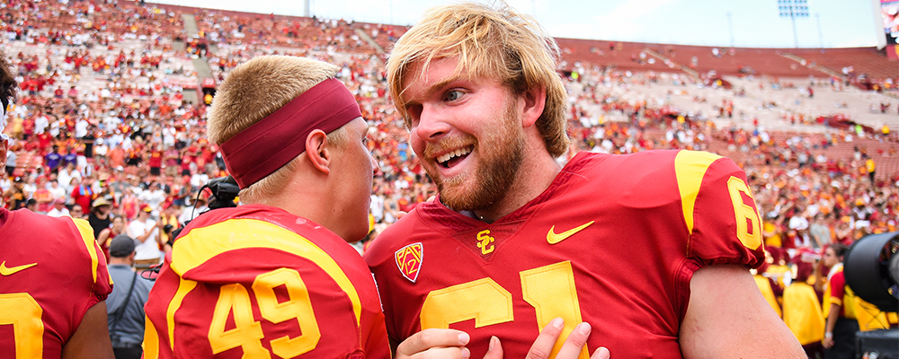 USC&#39&#59;s Jake Olson Nominated for Capital One Orange Bowl FWAA Courage Award