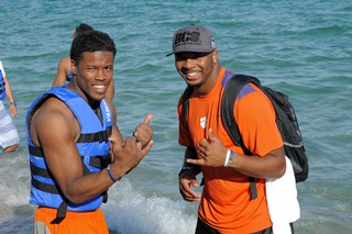 Clemson Team and Family Beach Outing
