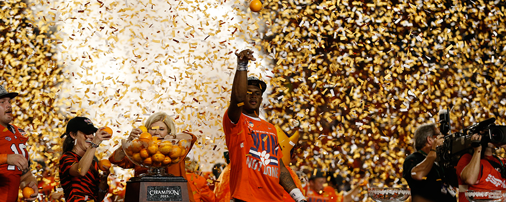 The Clemson Tigers Win the 2015 College Football Playoff Semifinal at the Capital One Orange Bowl